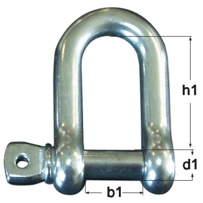 Shackle AISI 316, 304 type D
