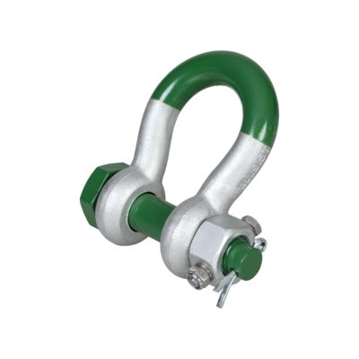 green pin super bow shackles with safety bolt and fixed nut g 5243